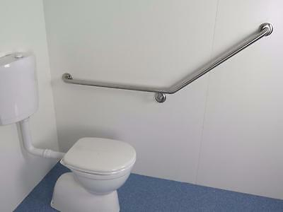 Stainless Steel Bent Angle Hand Rail*Safety Grab Bar*Wheelchair*Toilet*84cmx70cm