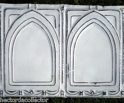 Antique Victorian Gothic Arched Ceiling Tin Tiles Shabby Chic Canvas
