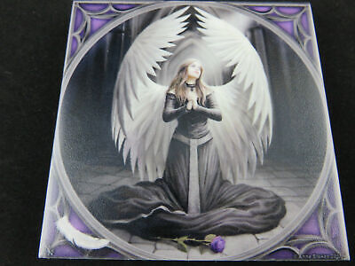"Anne Stokes ""Prayer for the Fallen"" Ceramic Art Tile Gothic Fantasy Dragon"
