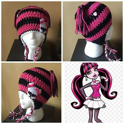 Monster High Draculaura Beanie Hat Girls Halloween Costume Winter Warm Child