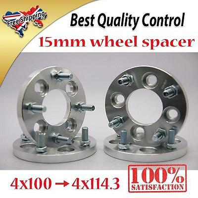 4pcs 15MM Alloy Wheel Spacers Spacer 4x100 To 4x114.3 4X3.94 To 4X4.5 M12x1.5