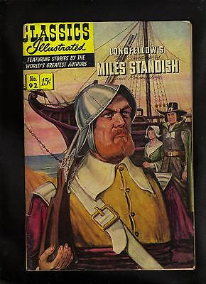 Classics Illustrated #92 G (O)   Hrn92  (Longfellows Miles Standish)