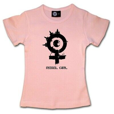 Arch Enemy Rebel Girl Kids Shirt Girls Toddler Tshirt 2-13 T-shirt Pink Or Black