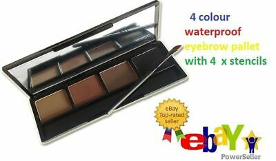 Waterproof 4 Colour Eyebrow Kit Suit Light/medium/dark With Eyebrow Stencils