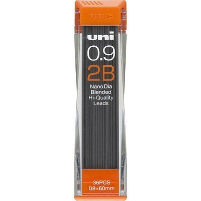 Mitsubishi uni 0.9-202ND 2B Lead Refill Nano Dia Blended For Mechanical Pencil