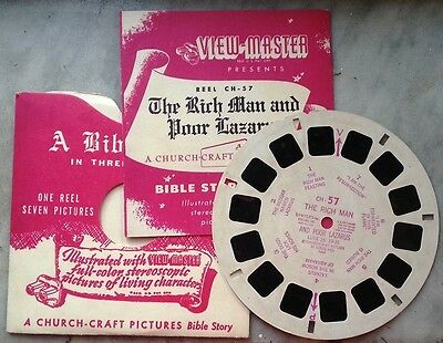 14938 View Master n. CH 57 - A Bibble story - the rich man and the poor Lazarus