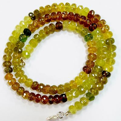 """263Cts. 21"""" 6 Mm Ultimate Quality Micro Faceted Multi Grossular Garnet Necklace"""
