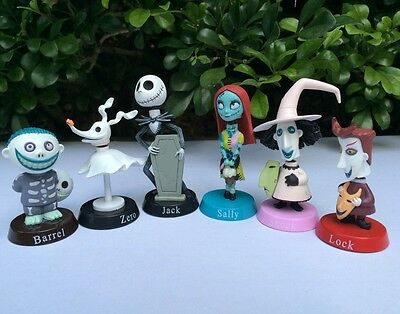 Nightmare before Christmas Jack bobble head figure collection toys 6pc UK NEW