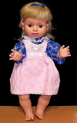 1995 Playmates Baby So Beautiful All Vinyl Doll w/ Original Clothes - VGC
