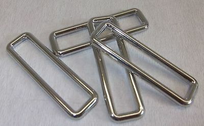 4 Rectangular rings, Loops 50mm silver Without nickel, Rust-free (61x18mm) 1