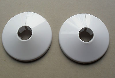 2 Radiator Pipe Collars, White Plastic Floor Covers To Fit 15mm Pipes, Oracstar