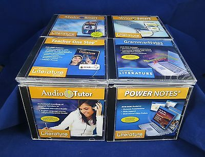 Lot 6 Holt McDougal Grade 7 Literature CD & DVD Rom Sets New and Used Homeschool