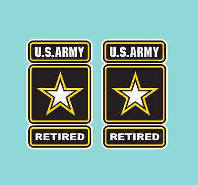 US Army Retired Window Decals Vinyl Stickers Military Emblem  2 Small or 1 Large