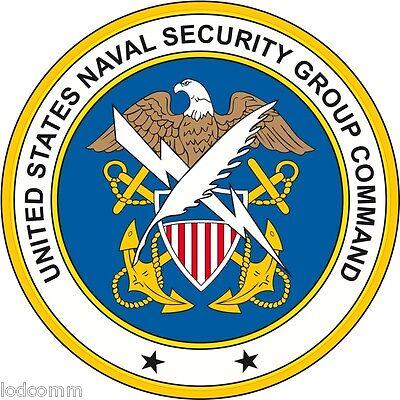 US Naval Security Group Command  (2 small or  1 Large) Vinyl Decal