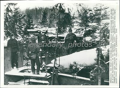 WW2 PICTURE FINNISH soldier with a dog Hämeenlin 1941 #697
