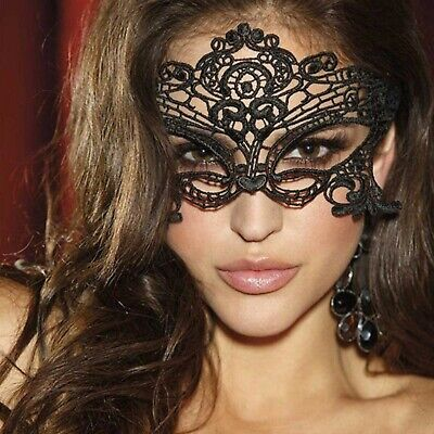 Sexy Black White Lace Eye Mask Costume Party Fancy Dress Ladies Masquerade Mask
