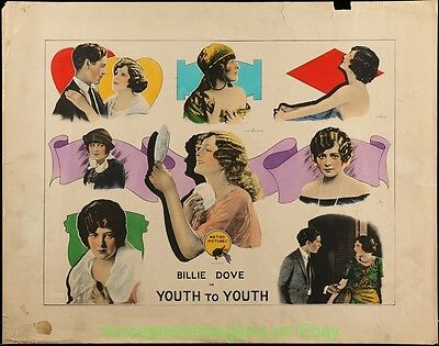 YOUTH TO YOUTH Movie Poster 22x28 Inch Half Sheet Size 1922 BILLIE DOVE