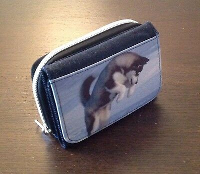 New Denim Purse Siberian Husky Personalised Sled  Dog Huskies Gift Mum