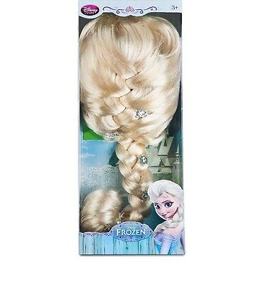 Authentic Disney Elsa Jeweled Wig For Girls Frozen  Nib