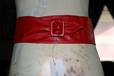 Brand New Girls Red Fashion Belt In Faux Leeather