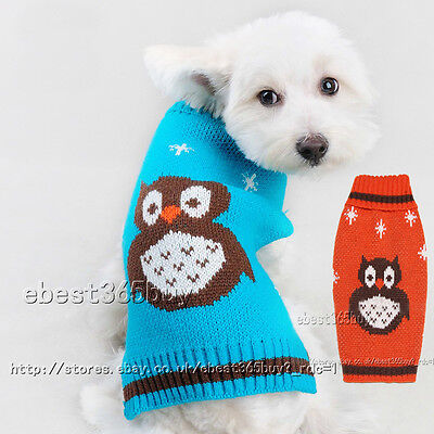 Owl Ugly Pet Dog Sweater Puppy Cat Winter Clothes knitwear Fancy Jumper Apparel
