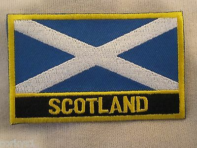 """Scotland"" Signed Patch ""Cross Of St Andrew"" Scottish Flag Patch Scottish Pride"