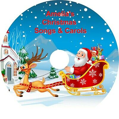 Personalised CD - 20 Childrens Sing-A-Long Christmas Carols & Songs