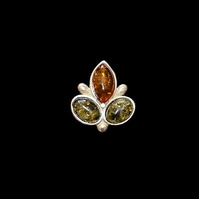 Genuine Baltic Amber Brooch Pin Polished In Silver Plated Frame Jewellery Gift