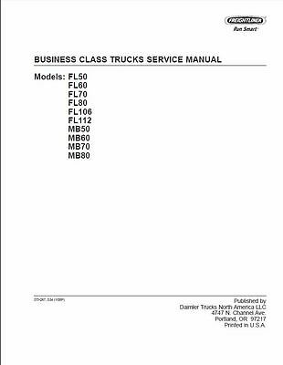 Freightliner Business Class Truck Factory Workshop Repair Service Manual CD
