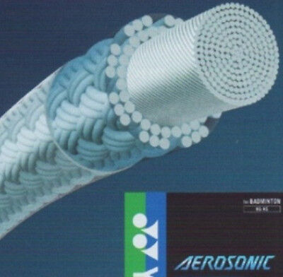 2 pkts YONEX BG AS AEROSONIC BG-AS Badminton String, 0.61 mm Super Power