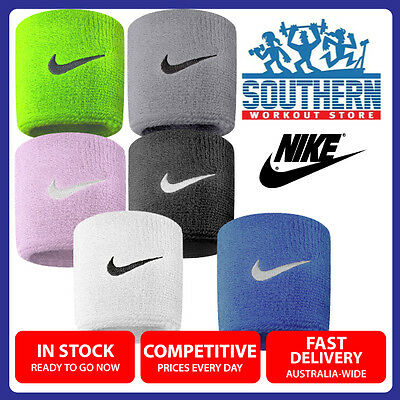 Nike Swoosh Wrist Sweat Bands Fitness Gym Workout Multiple Colours ONE SIZE