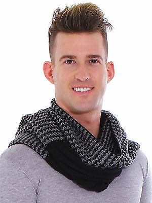 Unisex Chunky Scarf Men Long Cable Knit Ladies Winter Scarves Crochet Pashmina