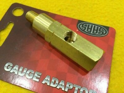 1/8 BSP to 1/8 NPT Brass Oil pressure gauge adapter T-Piece Gauge Sensor SAAS