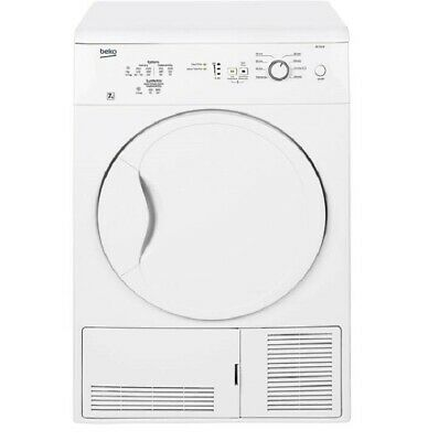 Beko DC7112W 60cm 7Kg 2 Temps Condenser Dryer with Reverse Action in White