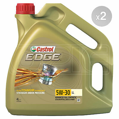 Castrol EDGE Titanium 5W-30 LL Full Synthetic Engine Oil 8 Litres 2 x 4L
