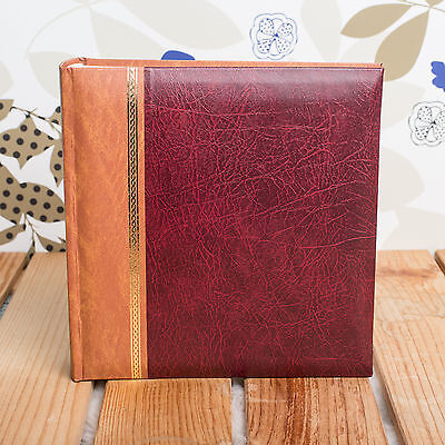 CLASSIC TRADITIONAL 6x4 MEMO 200 PHOTO ALBUM - HOLDS 200 6X4 PHOTOS - Burgundy
