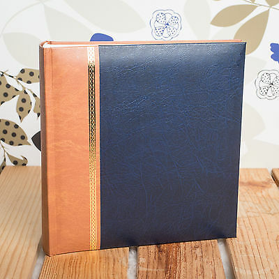 CLASSIC TRADITIONAL 6x4 MEMO 200 PHOTO ALBUM - HOLDS 200 6X4 PHOTOS - ROYAL BLUE