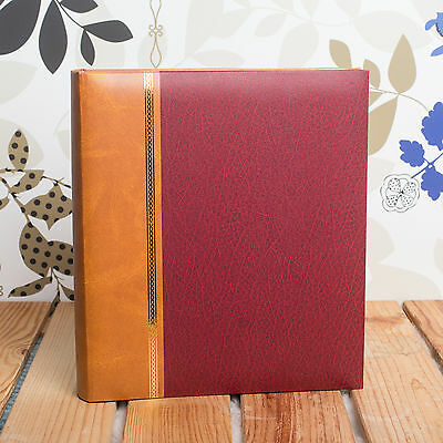 CLASSIC TRADITIONAL 7x5 MEMO 200 PHOTO ALBUM - HOLDS 200 7x5 PHOTOS - Burgundy