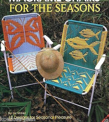 Macrame LAWN CHAIR or lounger patterns: butterfly; fish; Christmas tree; truckin