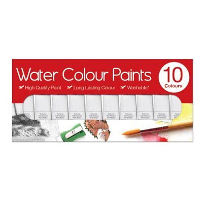 NEW Artbox 6ml Watercolour Paints Tubes (Pack of 10)