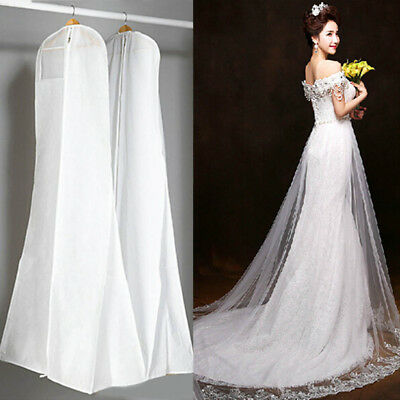 Large White Breathable Wedding Prom Ball Gown Dress Garment Dustproof Cover Bag