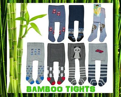 Baby BOYS Bamboo Tights Leg Warmers 0 - 24 Months NEW BOYS