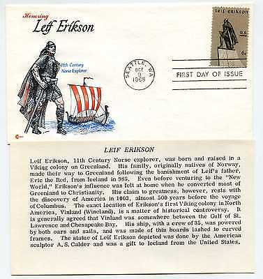 1359 Leif Erikson Cover Craft cachets, CCC, FDC