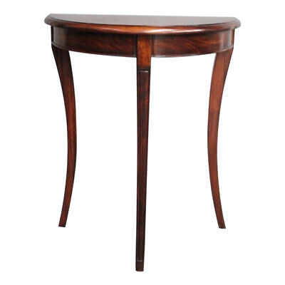 Solid Mahogany Half Moon Hall Table Side table Console Table Antique Design