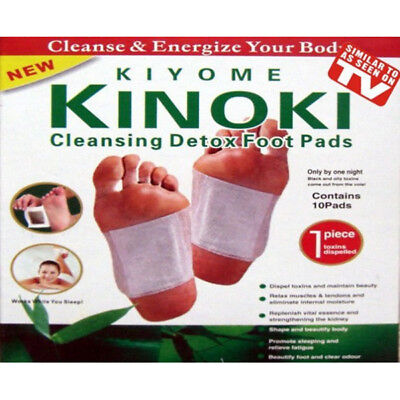 10Stk Kinoki Toxine Patches Detox Pflaster Pads Entgiftung Fusspflaster Vital HB