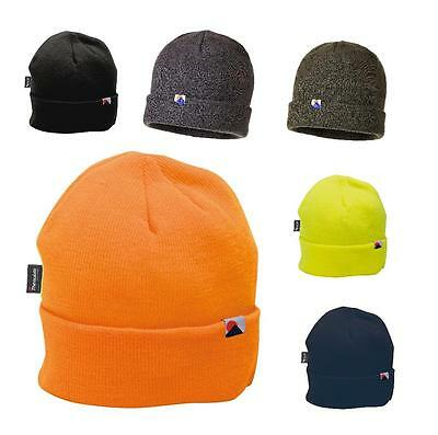 Portwest B013 Insulated Beanie Knit Cap Hat Thinsulate® Lined Unisex Warm Winter