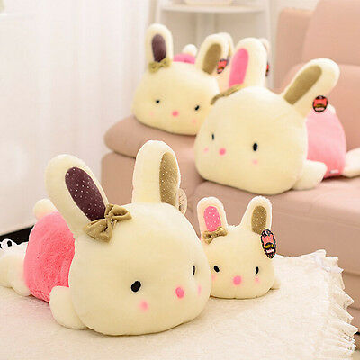 Plush Doll Car Pillow Soft Toy Stuffed Animal Lovely Rabbit Cute Bunny Gift pink