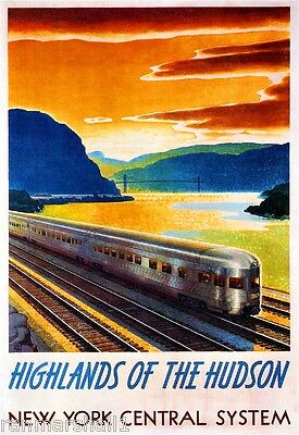 Highlands of Hudson New York Central United States Travel Advertisement Poster