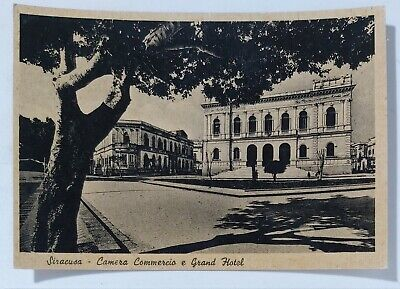 36885 Cartolina - Siracusa - Camera Commercio e Grand Hotel