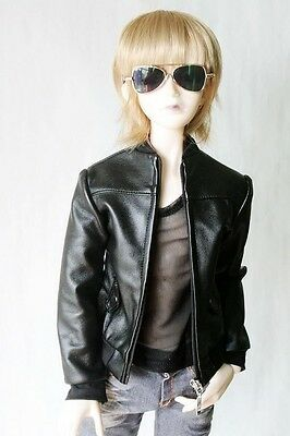 [wamami] 770# Black Synthetic Leather Jacket/Coat/Suit/Outfit 1/3 SD BJD Dollfie